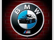 BMW M LED 600mm ILLUMINATED GARAGE WALL LIGHT CAR BADGE