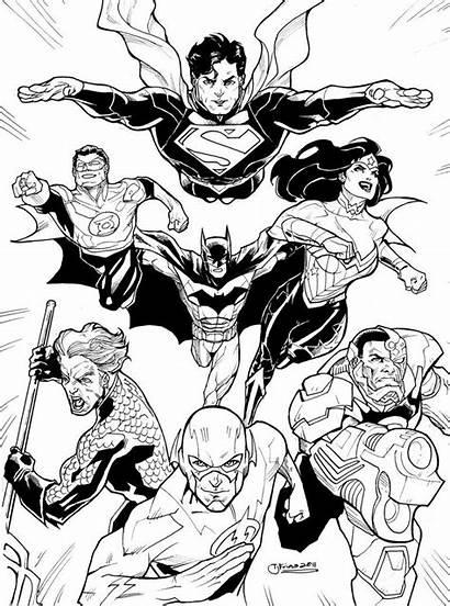 Coloring Justice League Pages Deviantart Dc Printable