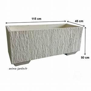 Béton Ciré Pas Cher : bac jardini re en b ton cir 115cm quiberon couleur ~ Premium-room.com Idées de Décoration