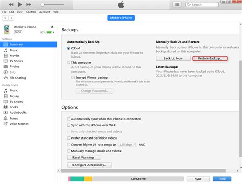restore iphone from itunes guide how to backup and restore iphone with itunes