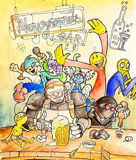 🌙🍻 Night Bar 🍻🌙 By Alecsartist On Newgrounds