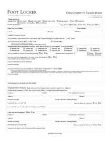 foot locker employee resume foot locker employment application form free