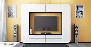 Global Wohnen Online Shop : tv wohnwand medienwand wohnzimmer weiss hochglanz 240 cm ~ Bigdaddyawards.com Haus und Dekorationen