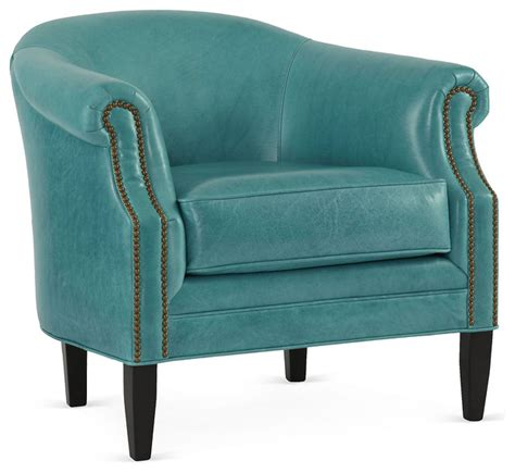 hyde leather chair turquoise contemporary armchairs