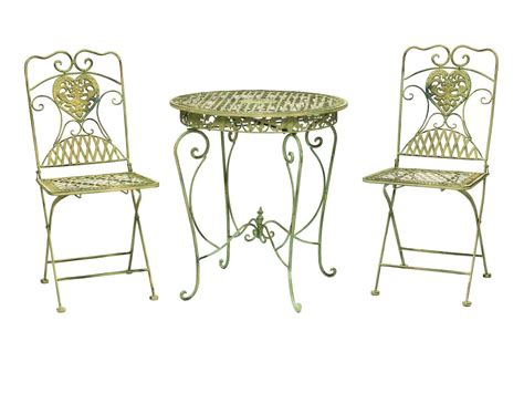 garden furniture set table 2 chairs antique style