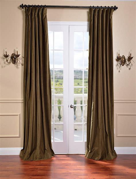 Olive Green Curtains Drapes - burnt olive vintage cotton velvet curtains drapes ebay
