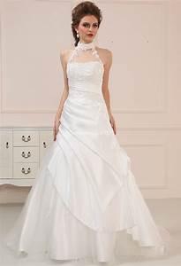 robe de mariee satin attache cou With robe de mariée dentelle avec parure bijoux soirée