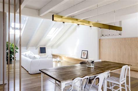 An Architect's Attic Apartment With Custom Furniture : Emme Elle Attic Apartment / Archiplan Studio