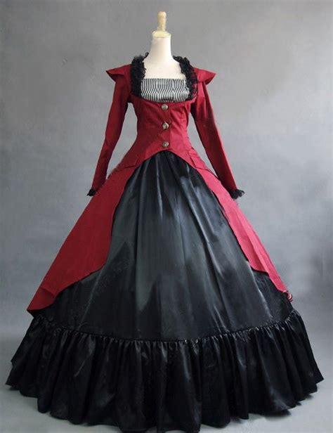 2015 Red Gothic Victorian Steampunk Dress Reenactment ...