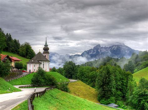 Germany Scenery Temple Mountains Road Seiden Trees Nature