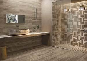 carrelage salle de bain facon parquet With carrelage adhesif salle de bain avec led video wall