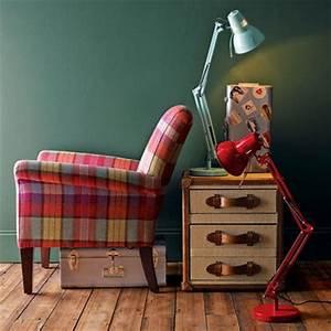 tartan fabric using colour and pattern decorating ideas With interior design ideas tartan