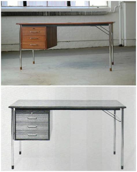 23733 used furniture for 072905 teak and steel desk by ejner larsen and aksel bender