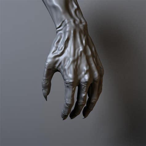 demon hand obj