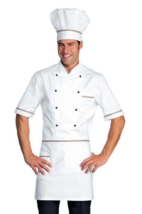 tenue cuisine veste chef cuisinier alicante blanc tricolore 100 coton
