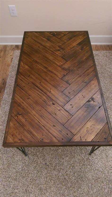 diy herringbone coffee table diy coffee table diy table