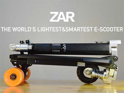 zar foldable electric scooter   stored