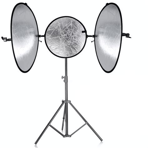 neewer collapsible goldsilver panel reflector stand kit