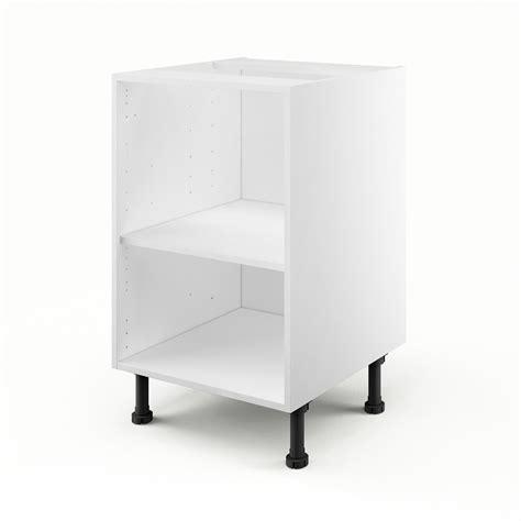 pose pied bureau caisson de cuisine bas b50 delinia blanc l 50 x h 85 x p