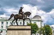Monument To Mikhail Tverskoy On Horseback On Sovetskaya ...