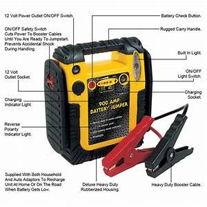 Portable Power Car Battery Starter Pack 900 Amp Booster
