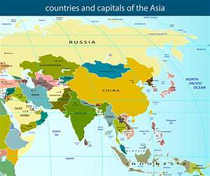Map of Asia - Guide of the World