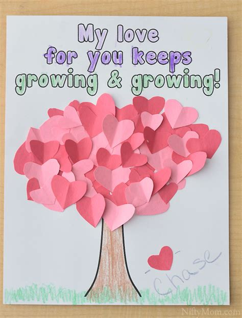 tree craft for s day 465 | preschool heart tree craft printable valentines day