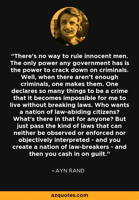 ayn rand quote     rule innocent men