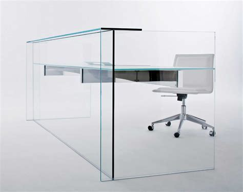 Modern creative glass desk table design   Orchidlagoon.com