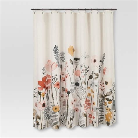 shower curtains target shower curtain floral wave threshold target