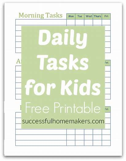 Printable Daily Tasks Task Morning Afternoon Evening