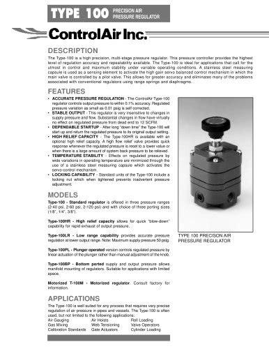 T550X Miniature I/P, E/P Transducer - ControlAir - PDF