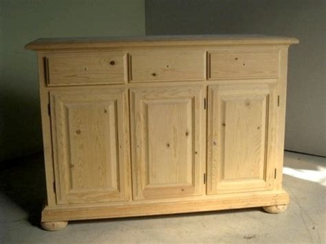 Unfinished Furniture Sideboard by Unfinished 3 Door Pine Sideboard Traditional Buffets