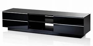 Meuble Tv Noir : ultimate gs180 noir meubles tv ultimate sur easylounge ~ Teatrodelosmanantiales.com Idées de Décoration