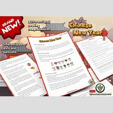 Year 3  Reading Comprehension Pack  Chinese New Year Grammarsaurus