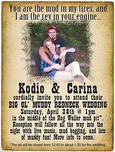 top collection of redneck wedding invitations theruntimecom With funny redneck wedding invitations