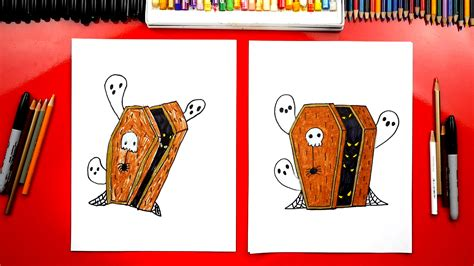 draw  coffin  halloween art  kids hub