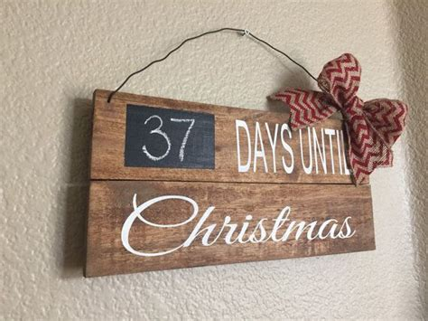 days  christmas pallet sign  rusticfamilydesigns