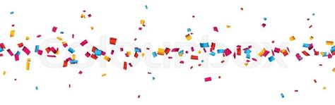 colorful celebration banner with confetti vector background stock vector colourbox