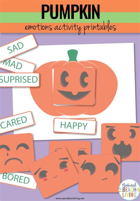 emotions activities preschool pumpkin theme printables 759 | Pumpkin printables Emotions activities pin2