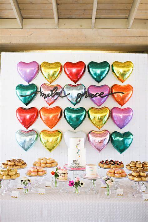 heart themed st birthday wedding party ideas