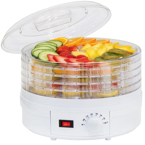 thermostat cuisine portable 5 tray electric food dehydrator adjustable