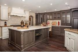 Agreeable Kitchen Cabinets Trends Decoration Ideas Kitchen With High Ceilings Light Wood Floors And Dark Cabinets