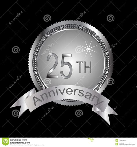 silver anniversary 25th or silver anniversary royalty free stock photos image 14640968