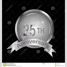 25th Or Silver Anniversary Stock Vector Image Of 25th 14640968
