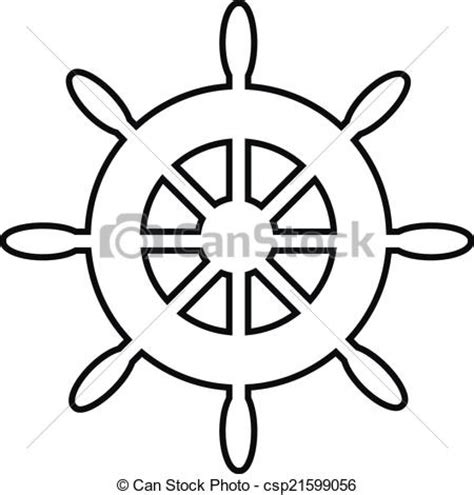 Boat Wheel Outline by Ship Clipart Ship Steering Wheel Pencil And In Color