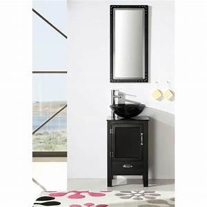 Legion Furniture 185 Inch Black Solid Wood Sink Vanity