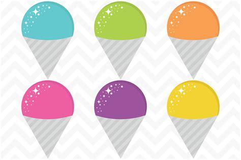 Snow Cone Clip Clip Vector Snow Cones Illustrations On Creative Market