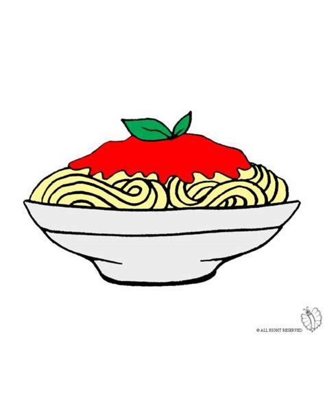 disegni di alimenti disegno di piatto di spaghetti a colori per bambini