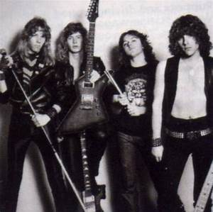Metallica in 1981. | First stable line-up ever. From left ...